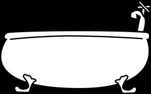 Eine Karikatur einer Badewanne